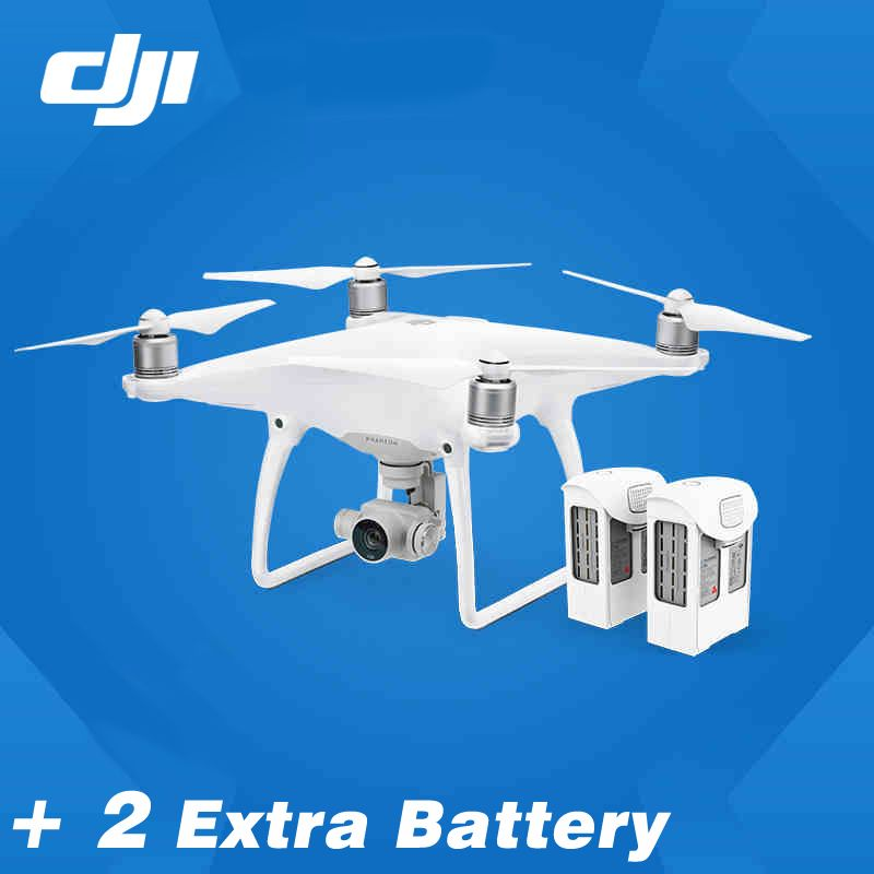 Newest DJI Phantom 4 drone with 2 Extra battery New features:Visual Tracking follow me,TapFly,Sport mode,Obstacle Sensing System