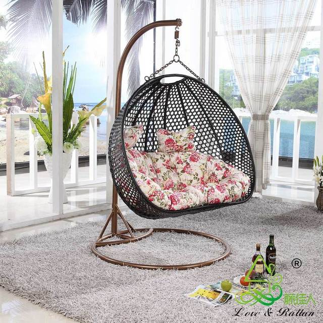 Lady rattan furniture rattan chair lifts cradle swing hammock ...