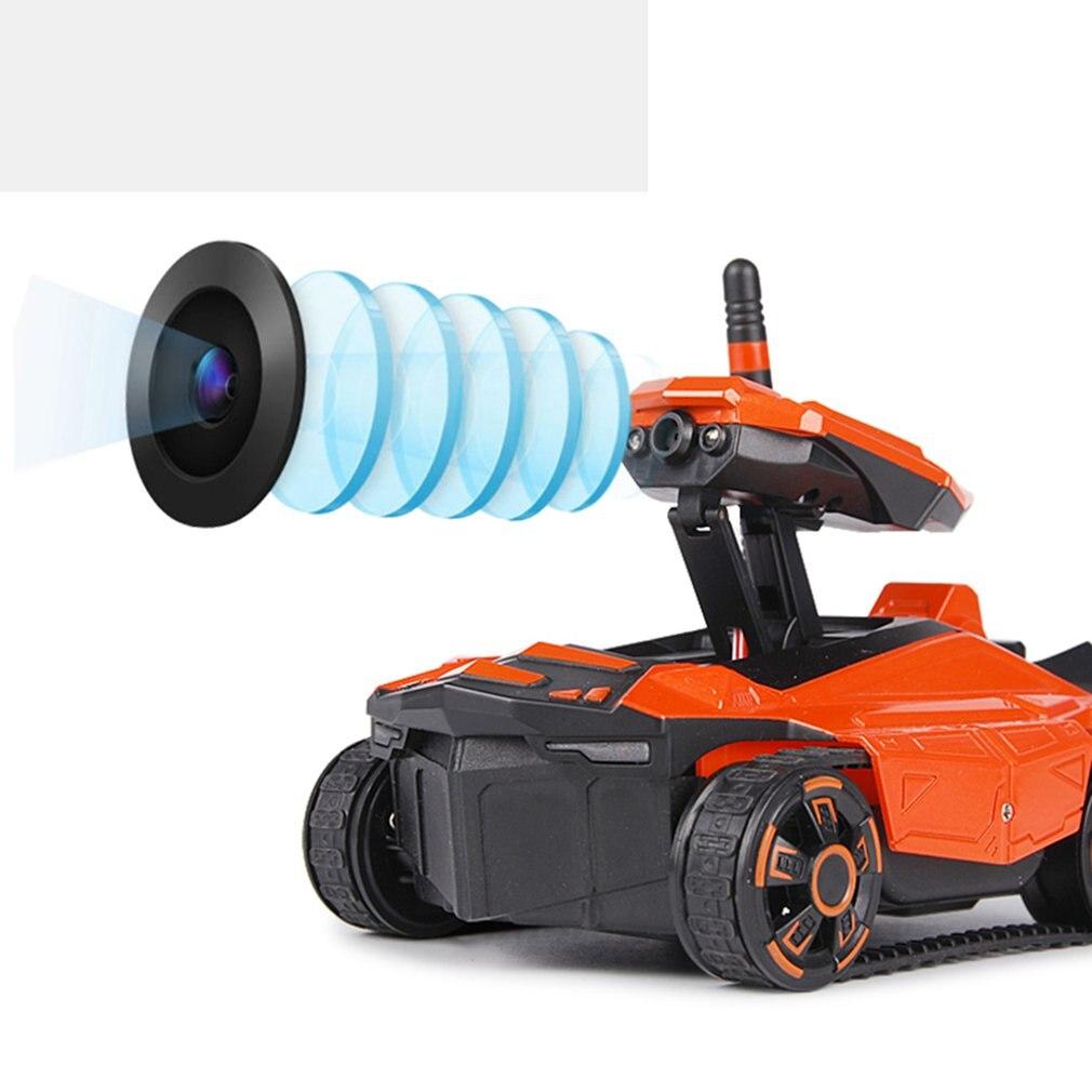 Réservoir RC avec caméra HD ATTOP YD-211 Wifi FPV 0.3MP caméra App télécommande réservoir RC jouet téléphone contrôlé Robot réservoir RC