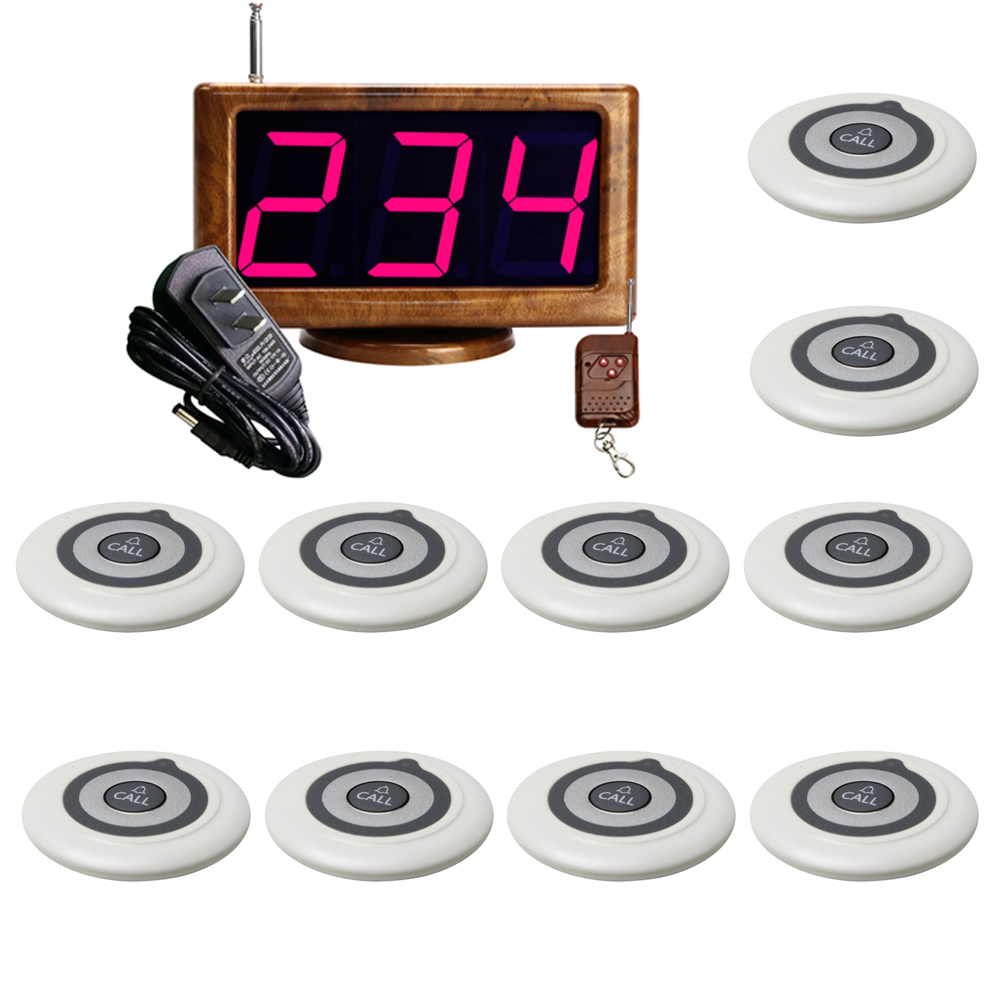 JINGLE BELLS wireless paging calling system 10 call button transmitters 1 screen receiver calling system for