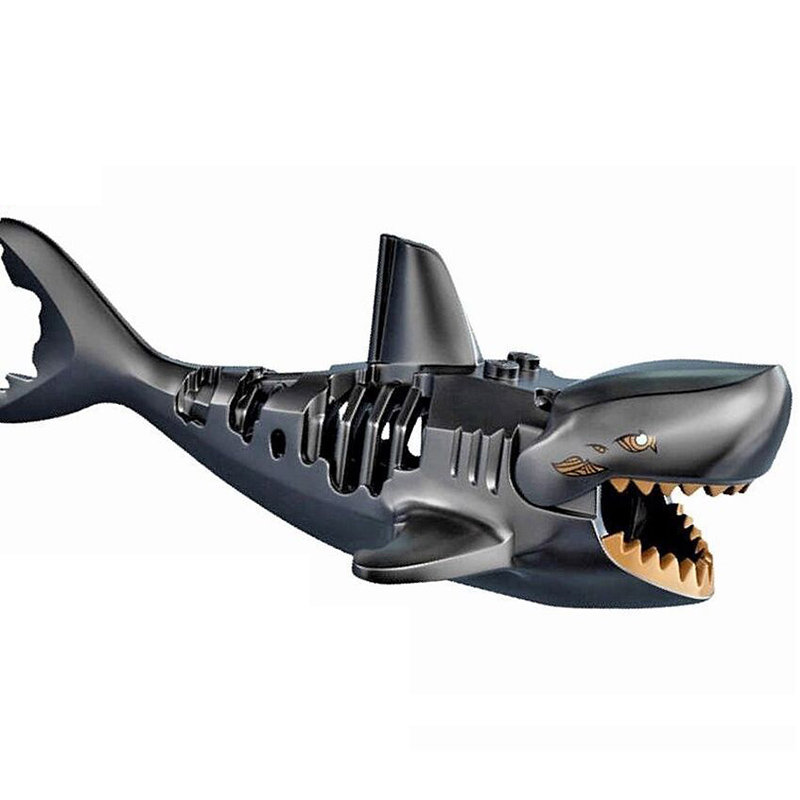 Single Selling Pirate Jack Shark Model Building Brick Toy
