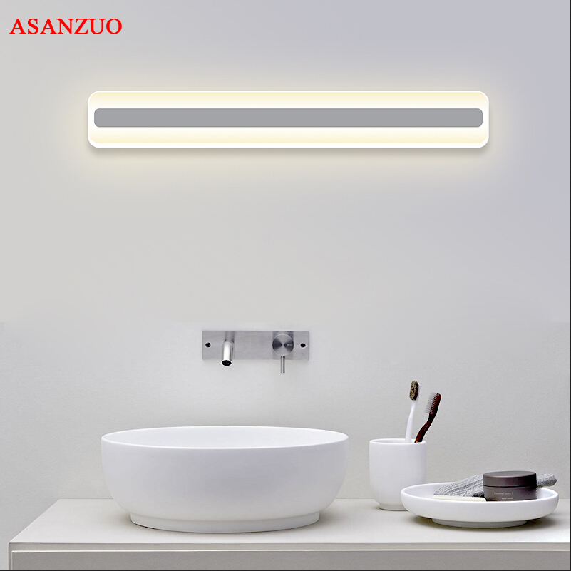 Modern Wall lamps bathroom/toilet LED front mirror lights bathroom acrylic mirror lights 12W/18W AC85-265V Wall Lights optional shipping costs fog proof led mirror lights dressing table toilet bathroom mirror front lamp ac85 265 12w 60cm