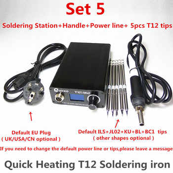 T12 Electronic Soldering Iron Digital Heating Soldering Station Welding Iron New Version STC T12 OLED T12-952 QUICKO - DISCOUNT ITEM  50% OFF All Category