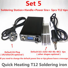 T12 Electronic Soldering Iron แบบดิจิตอลสถานีบัดกรีเชื่อมเหล็กใหม่รุ่น STC T12 OLED T12 952 QUICKO