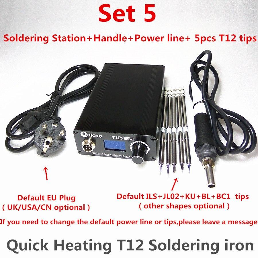 T12 fer à souder électronique chauffage numérique poste à souder fer à souder nouvelle Version STC T12 OLED T12-952 QUICKO