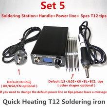 T12 soldador electrónico Digital Estación de soldadura de hierro nueva versión STC T12 OLED T12 952 QUICKO