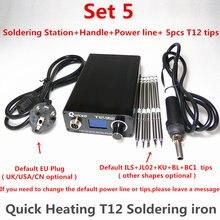 T12 سبيكة لحام الإلكترونية الرقمية التدفئة لحام محطة لحام الحديد النسخة الجديدة STC T12 OLED T12 952 QUICKO