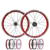 16 inch Folding Bike Wheels kids bicycle wheel 20 Holes V brake BMX Bicycle Wheelset