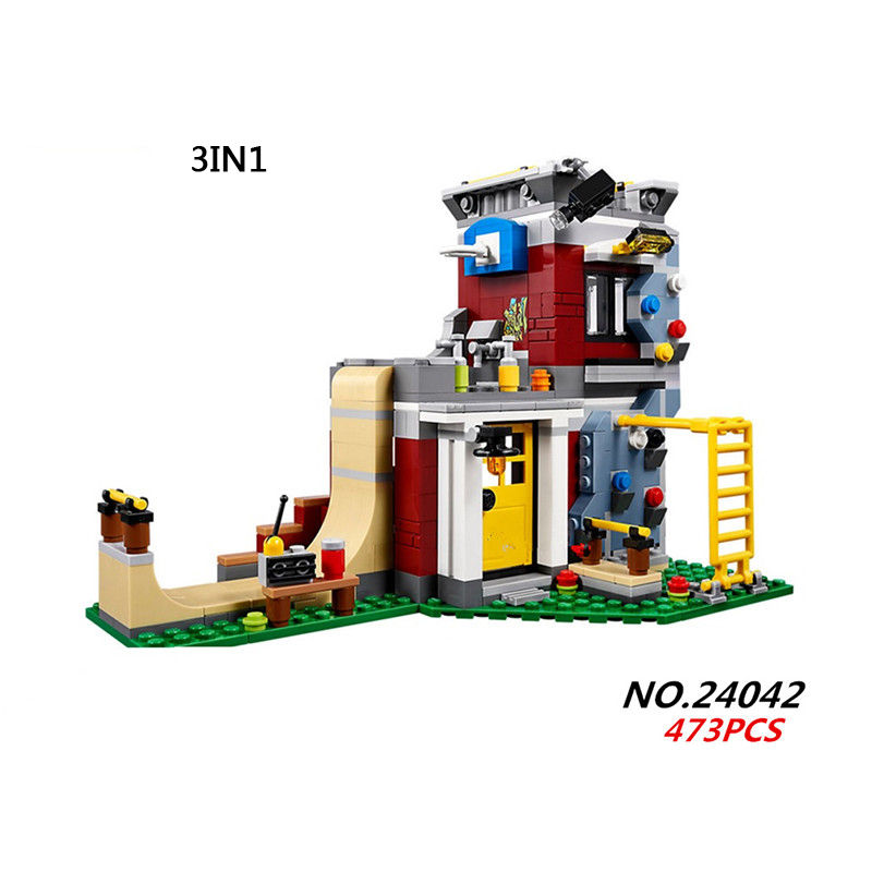 Hot Creative creators city Skateboard house 3in1 game center building block boys girls figures bricks 31081 toys for kids gifts