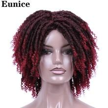 Короткие синтетические парики для женщин Eunice Hair 14 ' Мягкие дреды парик для волос Ombre Black