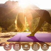 2017 NEW 6MM TPE Non slip Yoga Mats For Fitness Slim Yoga Gym Exercise Mats environmental Tasteless Pad Fitness Mat Sport