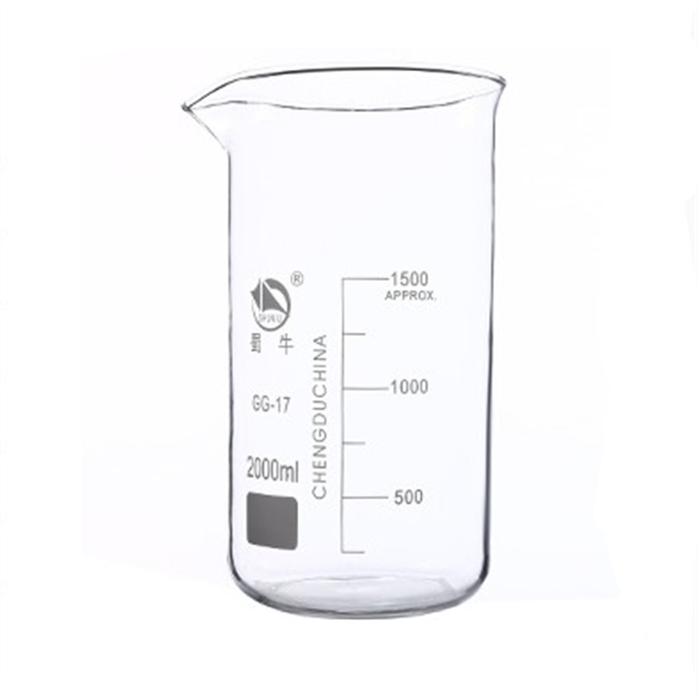 2000mL Glass Beaker Tall Form New Chemical Lab Glassware borosilicate glass 3.3 shuniu 500ml tall beaker lab beaker 500ml beaker in tall form with graduation and spout boro 3 3 glass