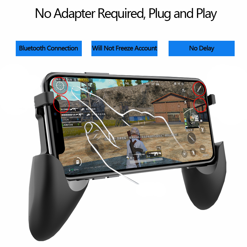 Image 2 - Bluetooth Game Pubg Trigger Controller Gamepad Phone Mobile Triggers Joystick For iphone Wireless Smartphone shooting Gaming-in Gamepads from Consumer Electronics