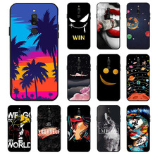 Ojeleye Fashion Black Silicon Case For Meizu M6T Cases Anti-knock Phone Cover Covers
