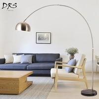 Nordic Creative Stainless Steel Floor Lamp Led Fishing Lamp Vertical Living Room Lamp Stand Lampadaire De Salon Floor Lighting