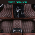 Car Floor Mats For Tesla Model X 2015-2017 Foot Carpets pad mat Step Embroidery Leather Car Interior Mats heavy duty carpet