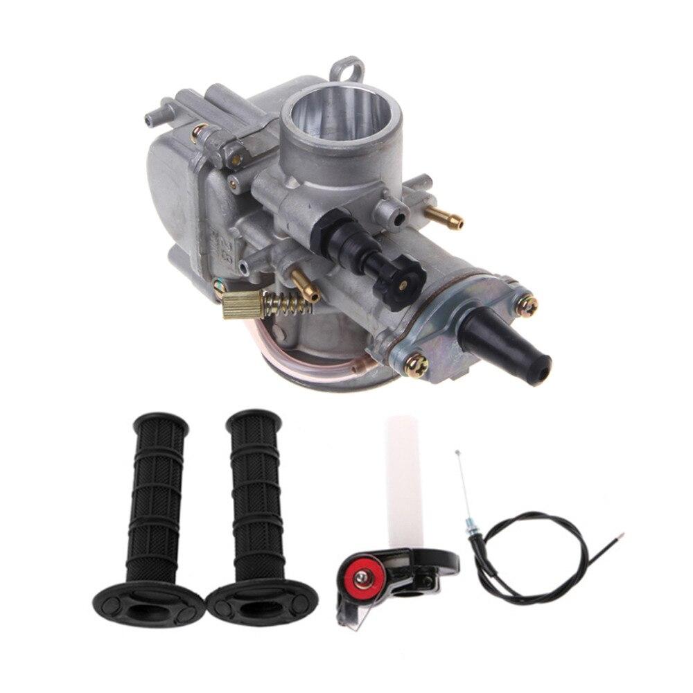 QILEJVS Universal Moto VTT 28/30/32/34/38/40mm Carburateur Pour Keihin Carb PWK Mikuni Avec Throttle Grip Poignée Twist Kit