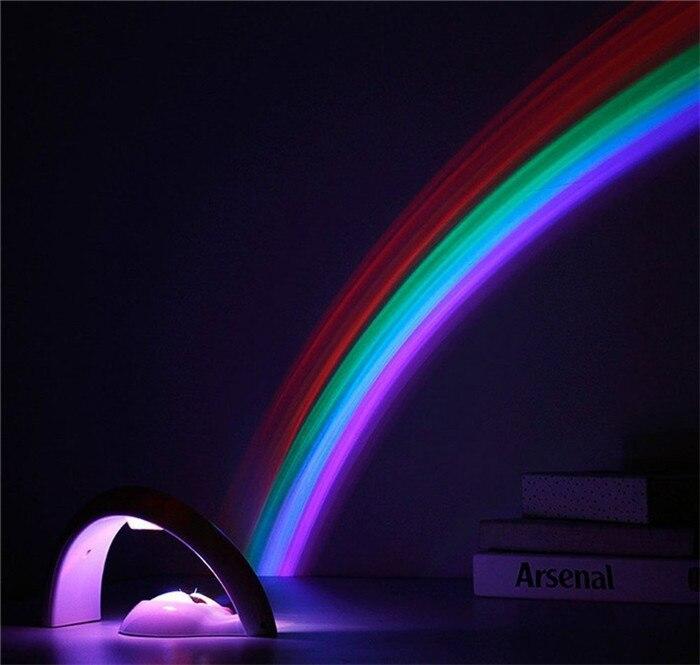Amazing Baby Kids Children Child LED Rainbow Light Colorful Romantic Christmas Night Light font b Projector