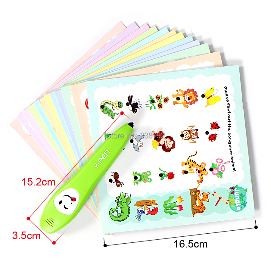 Smart logic Reading Y-Pen learning toys with 12pcs 2-Side learning cards 120 knowledge point Early interesting educational toys