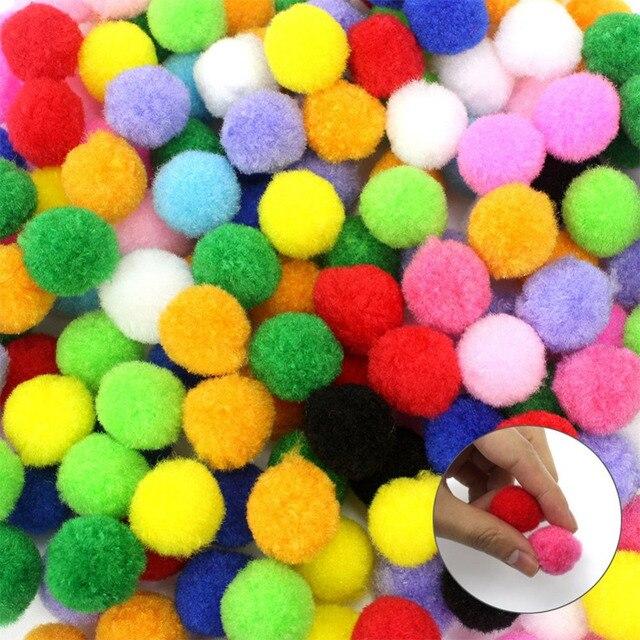 200Pcs Pom Poms Fur Balls DIY Crafts Pompom For Kids Wedding Home Decoration Craft Hot Sale