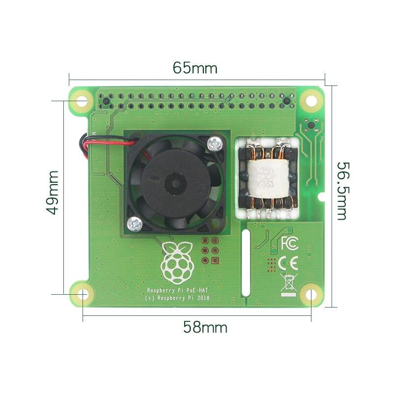 Image 2 - New Raspberry Pi PoE HAT Add on Board with Control Fan PoE Hat  Expension Board for Raspberry Pi 4 Model B / 3B  Plus / 3BDemo Board  Accessories