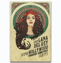 5dd62887ba8e4 MQ1392 LANA DEL REY Soul Music Singer Cover Vintage Hot New Art Poster Top  Silk Light