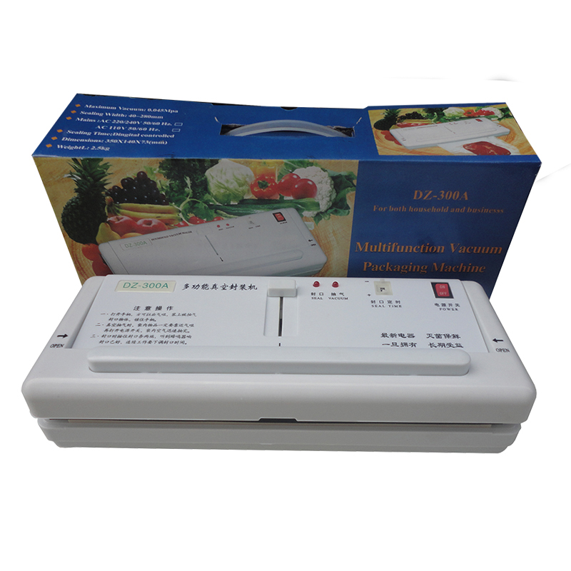DZ-300A Vacuum Sealing Machine Table Style Bag Sealer Plastic Vacuum Sealer Food Packaging Machine Vacuum Pack 110V/220V