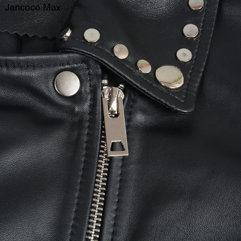 Zipper Printemps Femmes Mode Véritable Mouton Supérieure En Vestes Qualité Automne Peau Black Veste Courte S7166 Manteau Jancoco De Max Cuir w8n7v