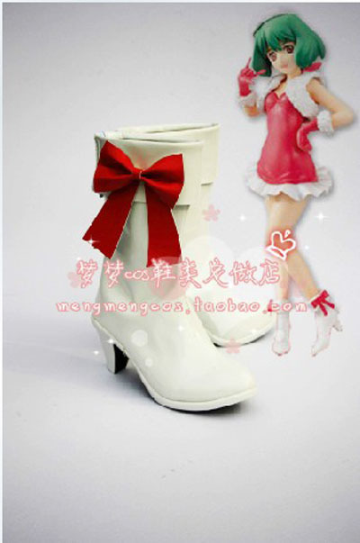 Japan Hot Recommend Macross Frontier Ranka Christmas Version Cosplay Boots Shoes Designer For Halloween