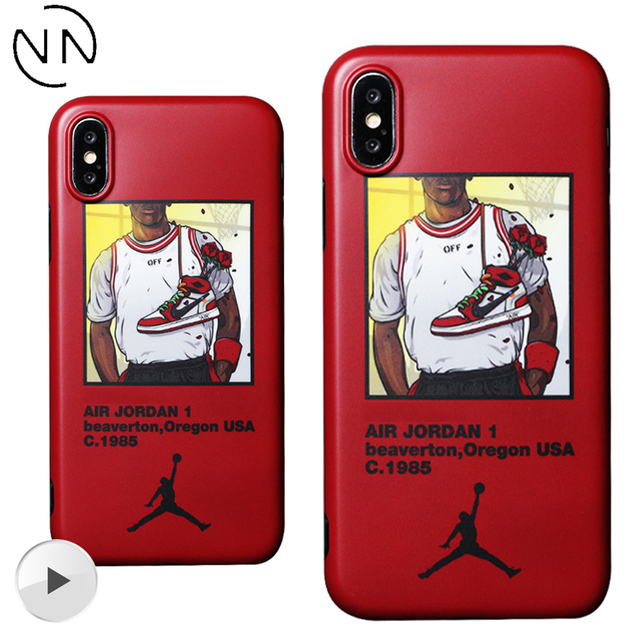 96aa724be7a552 Hot Off OW Air Dunk Flying Man Jordan AJ1 Sport Shoes Phone Case for iPhone  6 6S 8 7 Plus White Cover for iPhone X 10 XS XR MAX