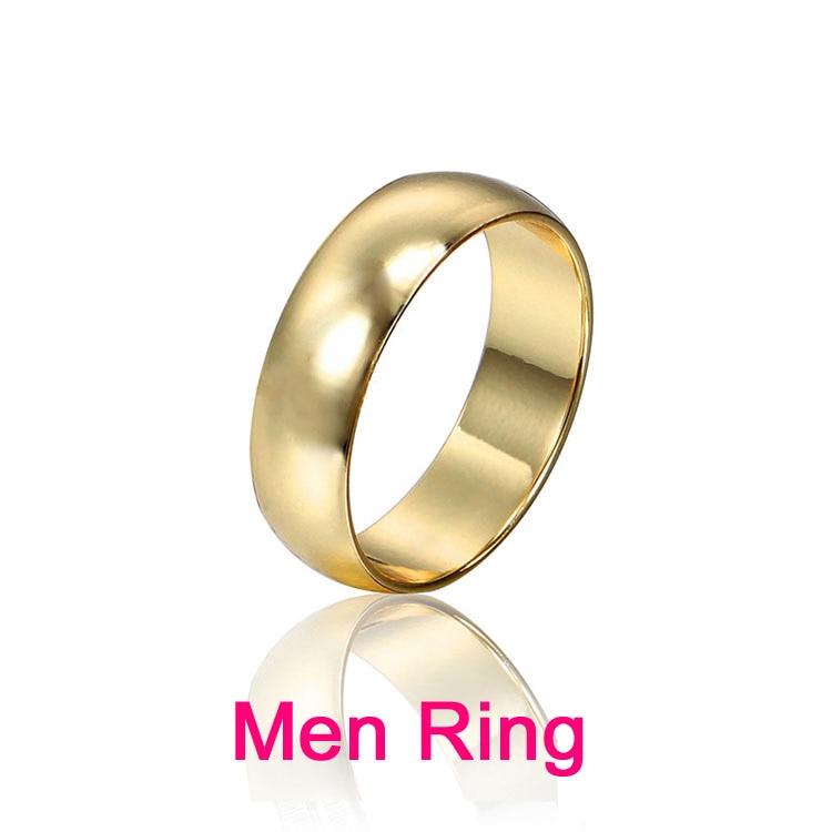 Par Ringe Guld Engagement Ring for Mænd Kvinder Alliance Casamento - Mode smykker - Foto 3