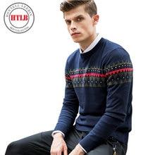HTLB Camisola dos homens Outono Inverno Casual Grosso Quente Camisola casaco Masculino 2017 Suéter de Tricô Hombre M-3XL Qualidade Superior P036