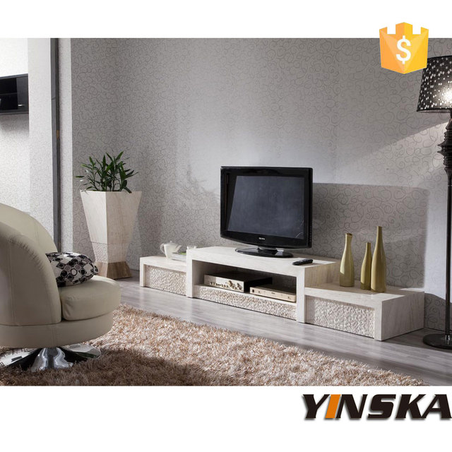 new design marble top tv stand furniture for sale 2 pices marble tv