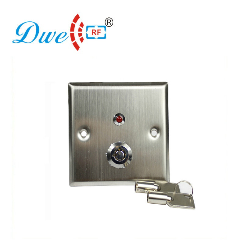 цена на DWE CC RF Exit Button Stainless Steel Access Control Push Button Switch With Key LED For Access Control System DW-806L