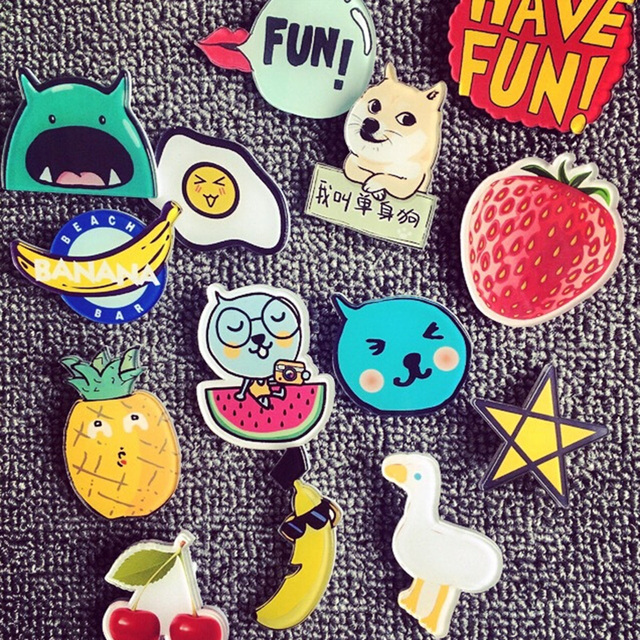 2ab5ffb96d4 Acrylic Cute Creative Lovely Collar Pin Badge Corsage Cartoon Brooch Pin  Jewellery For Women Girl Broches #88325