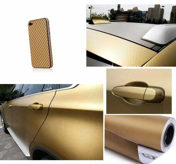 100X30CM סליקת מכירת 3D סיבי פחמן ויניל סרט גיליון מדבקות לרכב גלישת גלישת מדבקות אוטומטי לקשט אביזרים