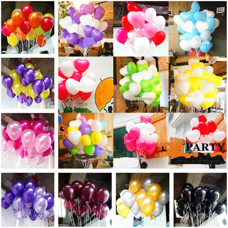 10pcs 12 inch 2.2g Latex Multi Color Balloons Birthday Party Decorations Kids Wedding Helium White Balloons Inflatable Air Balls