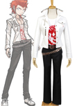 Danganronpa Leon Kuwata Original Anime Cosplay Costume Top+Tee+Tie Clasp+Pants+Belts*2 Halloween Custom Made Full Sets