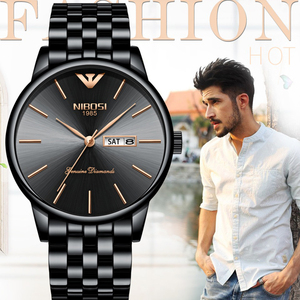 Image 5 - NIBOSI Heren Horloges Top Brand Luxe Zakelijke Quartz Gouden Horloge Mannen Vol Staal Mode Waterdichte Sport Klok Relogio Masculino