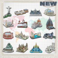 2015 Newest Famous Architecture Model 3D Jigsaw Puzzles For Adults Paper Diy Educational Toys For Children