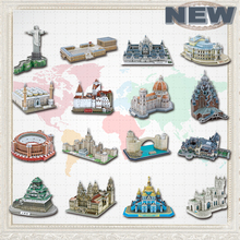 2015 Newest Famous Architecture Model 3D Jigsaw Puzzles For Adults Paper Diy Educational Toys For Children learning education цены онлайн