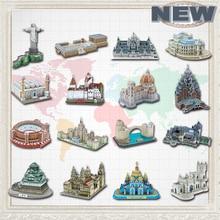 Educational Toys Famous Architecture Model 3D Jigsaw Puzzles For Adults Osaka Peles Bran Castle Las Ventas Toys For Children