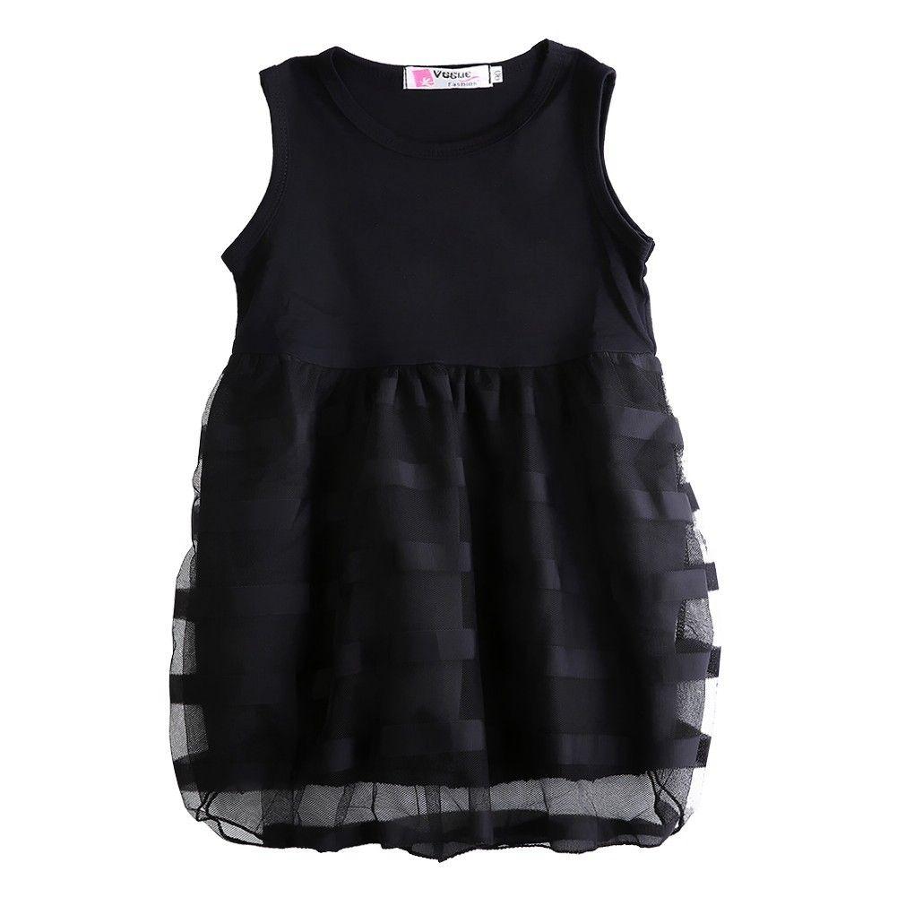 Black dress for baby girl - Baby Girls Sleeveless Fashion Black Lace Wedding Dresses 2017