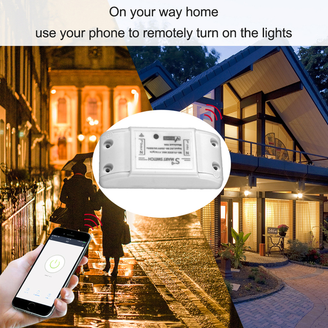 Tuya Wifi Switch DIY Wireless Remote Domotica Light Smart Home Automation Relay Module Controller Work with Alexa 5