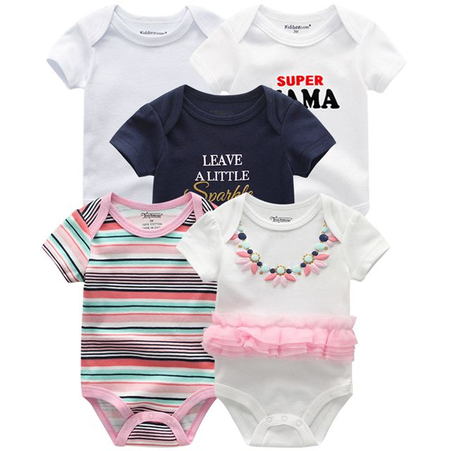Kiddiezoom детские комбинезоны пижамы для маленьких девочек Дети Bebe Infantil одежда для новорожденных одежда из хлопка Одежда для маленьких мальчиков, Товары для детей - Цвет: baby girl romper5087