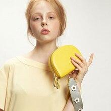 Mini Flower Handbag Women Shoulder Messenger Bags Chic Crossbody Bag For Pu Leather Saddle Round