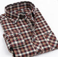 2014 New Fashion Men's Plaid Sanding Oxford Shirts Casual Anti-wrinkle Long Sleeve 100% Polyester Men Shirts S-XXXXL