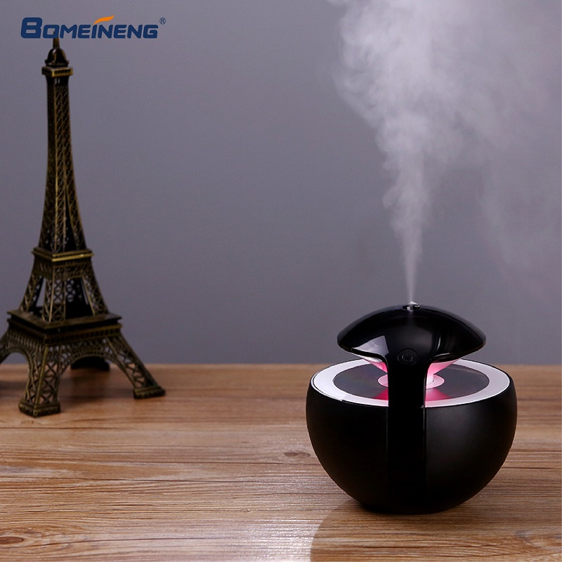 BOMEINENG 450ML Mini Air Humidifier Ultrasonic Mist Maker Fogger Water USB Humidifiers Purifier Aroma Essential Oil Diffuser bomeineng wood grain mini air humidifier ultrasonic mist maker fogger water electric aroma diffuser oil aromatherapy humidifiers