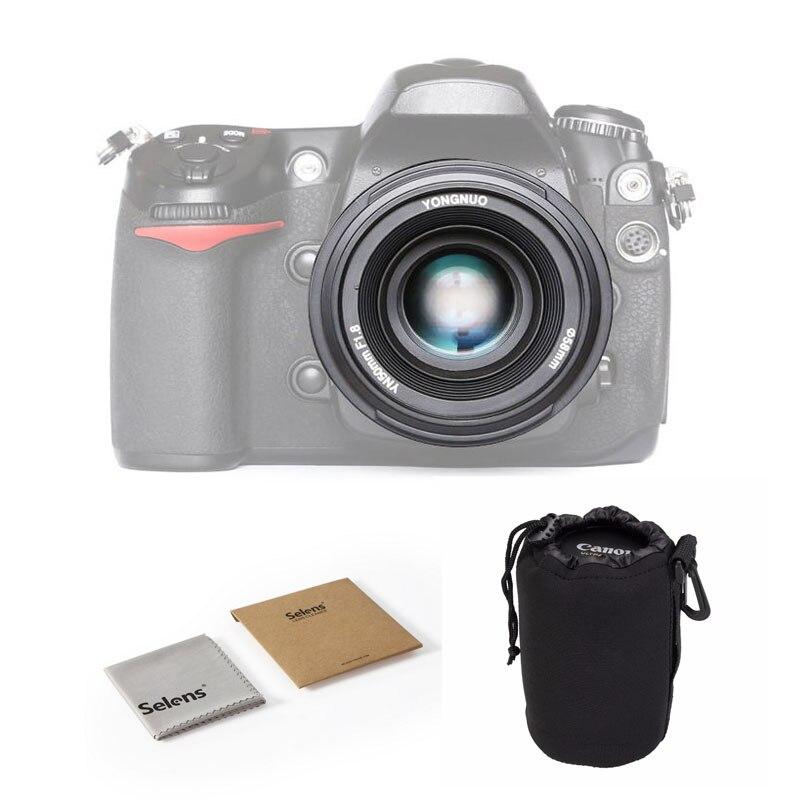 YONGNUO YN50mm F1.8 objectif de mise au point automatique à grande ouverture pour Nikon D800 D300 D3200 D3300 D5100 D5300 objectif d'appareil photo reflex numérique avec sac en tissu