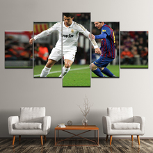 Canvas Painting Barcelona vs Real Madrid 5 Pieces Wall Art Modular Sport Wallpapers Poster Print Home Decor